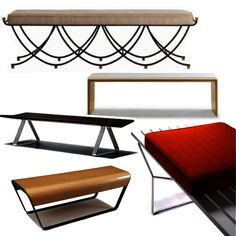 A collection of fabulous benches