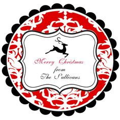 Round Chistmas Stickers Labels by stickerchic on Etsy