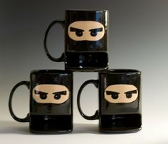 Ninja mugs. I want!