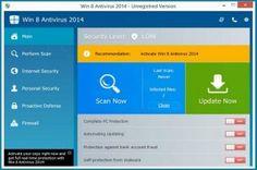 Win 8 Antivirus 2014 est une application anti-spyware faux qui montre son entrée dans le système marqué désactivation de la sécurité des systèmes et des pare-feu.