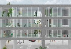 NP2F Architectes: Vans Severen, Architecture Drawings, Architecture All, Offices Kersten, 0880