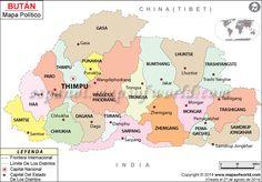 #Bután Mapa