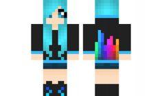 minecraft skin Dubstep girl :O I LOVE Dubstep. I would be good with reg. eyes though...