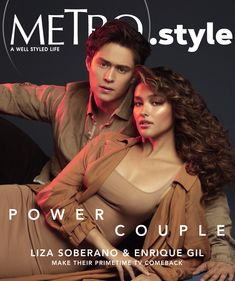 """""""Make It With You"""" stars Liza Soberano and Enrique Gil on the cover of Metro. Enrique Gil, Liza Soberano, Ian Veneracion, Metro Style, Ensemble Cast, Styles P, Acting Skills, Most Beautiful Faces, Perfect Couple"""