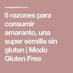 6 razones para consumir amaranto, una super semilla sin gluten | Modo Gluten Free Gluten Free, Gluten Free Diet, Recipes, Glutenfree