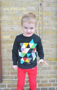 Boy, Oh Boy, Oh Boy!: DIY Geometric T-shirt. I could see this looking great as a appliqued sweatshirt