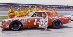 """Coo Coo Marlin poses alongside his car in the His son Sterling, from left), was part of the pit crew. Real Racing, Sports Car Racing, Nascar Racing, Auto Racing, Nascar Cars, Race Cars, Late Model Racing, Types Of Races, American Stock"
