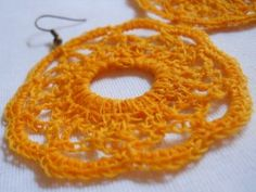 Crochet Circle Earring Tutorial