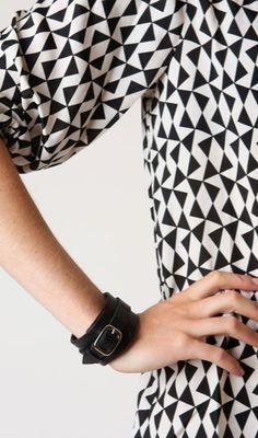 Shoptiques — Black Chunky Leather Bracelet