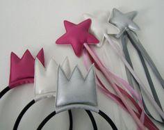 magic wand with matching crown (headband)
