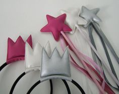 magic wand with matching crown (headband)