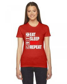 eat sleep drift Ladies Fitted T-Shirt