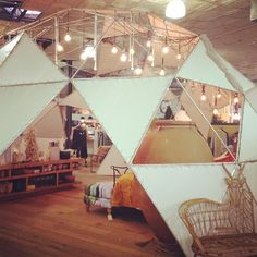 Geodesic dome at Anthropologie.