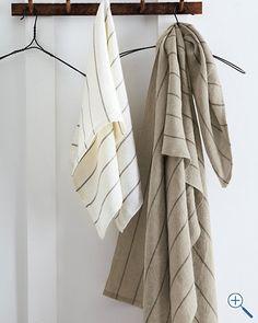 Eileen Fisher Linen Bath Towels~Very absorbent 5d8326119
