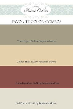 paint color combos, and pictures to see what they look like in a room- these would look fabulous in the kitchen