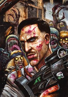 Call of Duty Zombies / 6 / Comic cover / August 2017 (Simon Bisley) Arte Zombie, Zombie Art, Call Duty Black Ops, Black Ops 4, Game Character Design, Character Art, Cod Zombies, Justin Jordan, Black Ops 3 Zombies