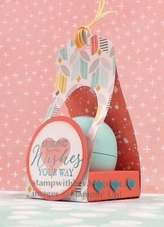 EOS lip balm holder for Valentine's Day by Mis.ty - Cards and Paper Crafts at Splitcoaststampers.   http://stampwithbev.blogspot.ca/2015/01/eos-lip-balm-holder-for-valentines-day.html