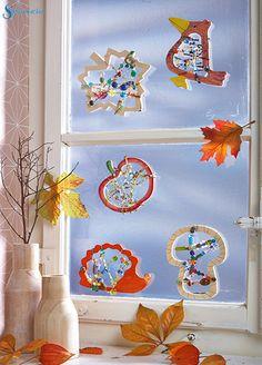 1000 images about der herbst ist da on pinterest - Fensterdeko herbst kindergarten ...