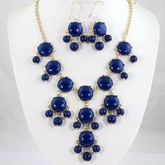New 20mm Navy Blue Bubble jewelry setBubble by Emilyjewelry4u, $24.00