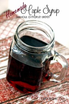 How to Make Homemade Maple Syrup (Without a Maple tree haha) {Recipe}