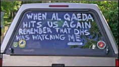 When Al Qaeda hits us again remember that the Department of Homeland Security was watching me! Redneck white boys are a threat to whom, again? Al Qaeda, Political Views, Right Wing, God Bless America, Wake Up, Obama, Positivity, Trucks, Humor