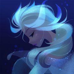 Elsa by Brittney Lee : Frozen Disney Kunst, Disney Fan Art, Studio Ghibli Films, Brittney Lee, Frozen Fan Art, Images Disney, Disney Pictures, Disney Princess Frozen, Elsa Frozen