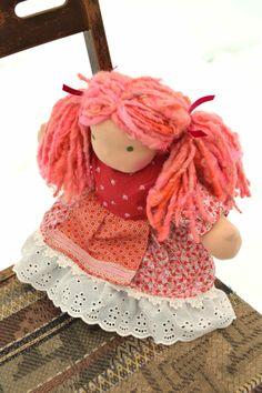 Waldorf Doll, luvkin, Rosie, 15 in. $145.00, via Etsy.