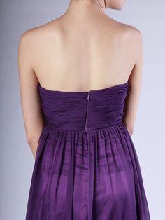 Strapless Sheer-Chiffon Bridesmaid Dress,US$169.99 ,Style No.0bd01087