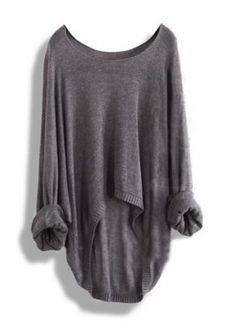 Blusas de cor cinza são mais fáceis de combinar com outros tons do look . #outonoinverno