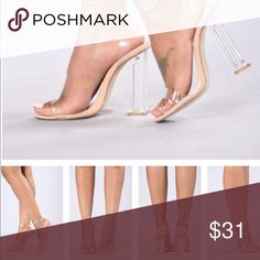 The glass slipper brand new. i just ordered it and came on friday , wasn't my size! Fashion Nova Shoes Heels