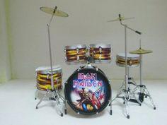 Amazon.com: Iron Maiden Drum Set Drums Kit Miniture Model for Drum Fan Collection: Home & Kitchen