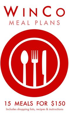 WinCo Meal Plan -- How about 15 dinners for under $150? These menu plans are simple and include the shopping list, recipes, and instructions on how to execute. Recipes are delicious, filling, and feed 4-6 people!  We have a traditional and gluten-free plan available!