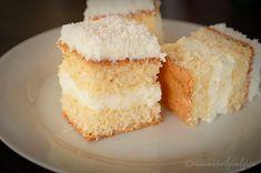 prajitura cu blat de cocos si crema de lamaie Coco, Vanilla Cake, Deserts, Kuchen, Postres, Dessert, Plated Desserts, Desserts