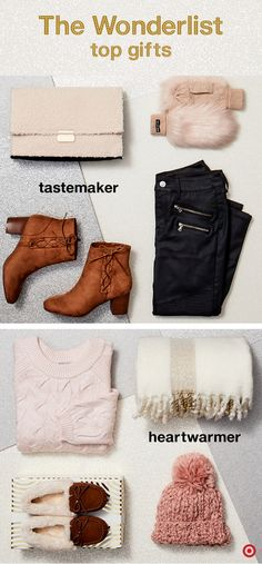 Check off your Christmas gift list with ease by finding everything for the trendsetter to the homebody. For the trendsetter—she knows and loves following the latest style trends. Find gifts that will wow her, like faux-fur mittens, booties and zippered leggings. And for the friend that enjoys staying in and relaxing, anything that's comfy, warm and pampers will be perfect. Think cozy knit sweaters and hats, luxurious blankets and soft slippers. Feels good checking off that list, doesn't it?