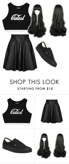 """Untitled #44"" by kwon-jaylin ❤ liked on Polyvore featuring Jeremy Scott and Vans"
