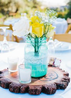 Spring Wedding Color Inspiration: Yellow Weddings on Borrowed & Blue.  Photo Credit: David Pascolla Photography