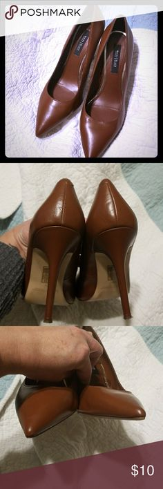 WHBM EUC Brown Pumps Perfect Brown Pumps!  Will go so much from work to a night out.  Pushed to sell! White House Black Market Shoes Heels
