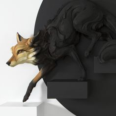 New Stoneware Animals Fraught With Human Emotion by Beth Cavener | Colossal