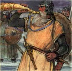 """Gjallarhorn begins to rant,  It's Heimdall announcing the beginning of the end. Oh Son of nine mothers, born at the ninth ram, Sounds the """"Yelling Horn"""" as loud as he can.  The White-god instigated it all and will subsist to the last  He will witness the leaves falling, taken aghast! Alas, he will perish at the hands of Loki Slaying one another, Heimdall will also kill thee.      © Bashir Sarieddine          Bashir on Facebook        Back to : [ by Theme ]   [ by Author ]   [ by Title ]"""
