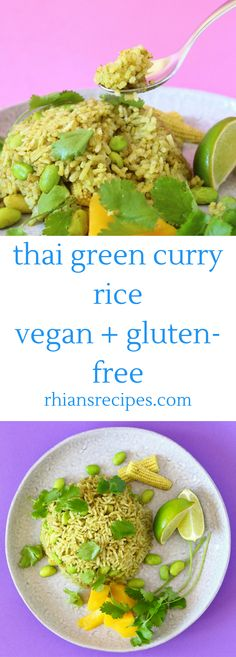 This Thai Green Curry Rice is really easy to make, nutritious, and unbelievably delicious! Vegan and gluten-free.