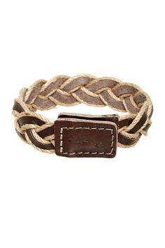 Tommy Bahama | Leather Cord Braided Bracelet | Nordstrom Rack