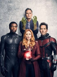 Black Panther, Scarlet Witch, Ant Man and Bruce Banner