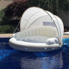Inflatable Kayak Hacks Details about Huge Inflatable Floating Canopy Sunshade Pool Island Beach Party Raft Float 78 - Inflatable Pool Float - Ideas of Inflatable Pool Float - Party Raft, Beach Party, Piscina Intex, Floating Canopy, Cool Pool Floats, Giant Pool Floats, My Pool, Pool Fun, Beach Pool