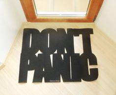 Don't panic floor mat. Funny doormat. Custom rug. by Xatara