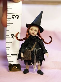 Little girl witch for 1/12th dolls house scale by MissSallyWorld