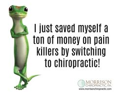 needs pain meds when you have an excellent chiropractor? Chiropractic Humor, Chiropractic Office, Family Chiropractic, Musculoskeletal System, Healthy Mind And Body, Health Programs, Alternative Medicine, Massage Therapy, Wellness Tips