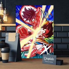 Metal Poster Goku Vs Vegeta
