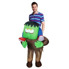 new adult inflatable horrible ride on frankenstein monster costume halloween cosplay outfit