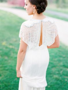 We love this dress! http://www.stylemepretty.com/2014/08/20/classic-spring-st-louis-wedding/   Photography: Clary Pfeiffer - http://www.claryphoto.com/