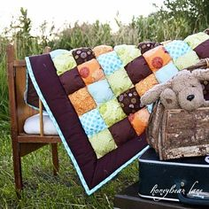 "love this color scheme - Image of ""Twigs"" Puff Quilt"